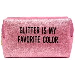 PCH134 Glittered Pouch, Pink