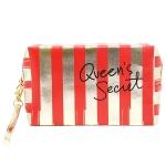PCH135 Striped Pouch-Queen's Secret, Red
