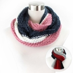 PCH5062 Three Color Stripe Knit Infinity