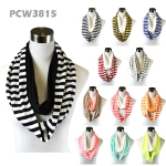 PCW3815 Stripe & Solid Combie Infinity