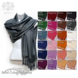 PP001 Solid Color Pashmina Shawl