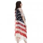 PS1104 Vintage American Flag long Poncho