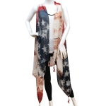 PS1124 Americana Flag Poncho