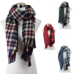 PSH5918 REVERSIBLE CHECK PATTERN SCARF