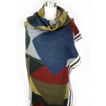PSY5004 Block pattern blanket scarf