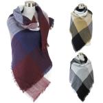 PSY5399 Colorblock Pattern Blanket Scarf