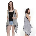 PY1041 Trimmed Draping Vest