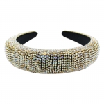 "QH2001AB Shiny Rhinestone Headband - Gold Multi (1.75"")"