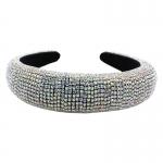 "QH2001AB Shiny Rhinestone Headband - Silver Multi (1.75"")"