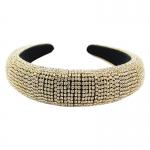 "QH2001GC Shiny Rhinestone Headband - Gold (1.75"")"