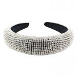 "QH2001SC Shiny Rhinestone Headband - Silver (1.75"")"