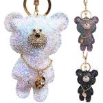 RS0140 Glittery Bear Keychain