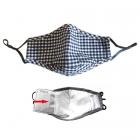 S-09 Check Pattern Filtration Mask - Black (12Pcs)