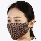 S-28 Simple Plaid Pattern Fashion Mask - Pink (12Pcs)