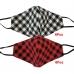 S-53 Plaid Pattern Reusable Mask - (12Pcs)
