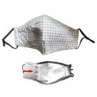 S-09 Check Pattern Filtration Mask - Taupe (12Pcs)
