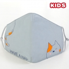 S-24 Kids Reusable Fashion Mask - Blue (12Pcs)