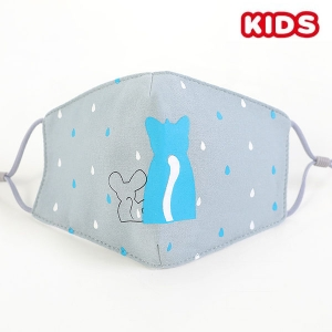 S-26 Kids Reusable Fashion Mask - Blue (12Pcs)