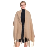 S5024 Solid Oblong Scarf, Beige
