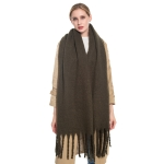 S5024 Solid Oblong Scarf, Olive
