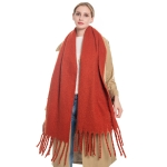 S5024 Solid Oblong Scarf, Rust