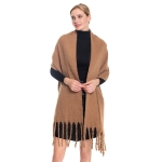 S5024 Solid Oblong Scarf, Tan