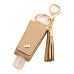 SA001 Solid Color Travel Size Sanitizer Holder W/Key Chain, Khaki