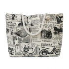 SB005 Classic Ride Print Beach Bag