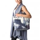 SB7002 New York Print Tote Bag