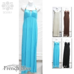 SD2951 Maxi Tie Halter Dress with Beads
