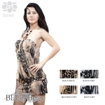 SD360 Animal Print Fancy Halter Dress