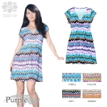 SD8139 Stylish Print V-neck Dress