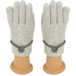 SG411 Knitted Glove, Light Grey