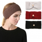 SH4008 Solid Knit Button Head Band