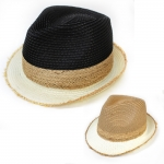 SH4108 Two Tone Fedora Hat