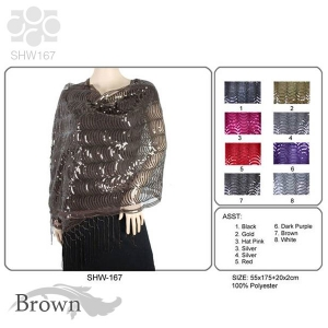 SHW167/EV136 Sequin Metallic Shawl