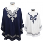 SOY7016 Paisley Embroidered Poncho