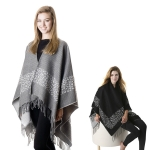 SP4502 LEOPARD CAPE WITH FRINGE
