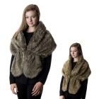 SP4504 FAUX FUR SHAWL