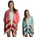 SP4613 Cape Poncho with Fringe