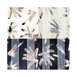SPL002 Satin Striped Feathers Pattern Scarf (DZ)