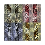 SPL003 Satin Striped Leopard Pattern Scarf (DZ)