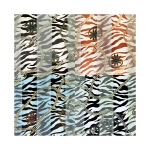 SPL006 Satin Striped Chains pattern Scarf (DZ)