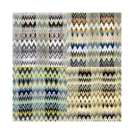SPL007 Satin Striped Zig-Zag Pattern Scarf (DZ)