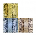 SPL025 Satin Striped Leopard Print Scarf (DZ)