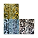 SPL026 Satin Striped Animal Print Scarf (DZ)