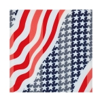 SPL027 Satin Striped American-Flag Pattern Scarf (DZ)