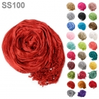 SS100 Solid Crinkle Scarf
