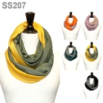 SS207 Two Tone Infinity Scarf