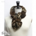 SS216 Animal Print Faux Fur Scarf